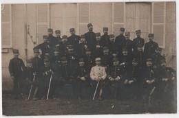 Carte Photo Militaria 18 BOURGES Groupe D'officiers Etat Major ? Par Réty - Bourges