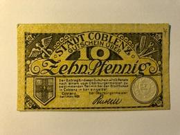 Allemagne Notgeld Coblenz 10 Pfennig - [ 3] 1918-1933 : République De Weimar