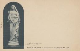 CARTOLINA -  MUSE'E DU LUXEMBOURG. E. DELAPLANCHE. LA VIERGE AU LYS - VIAGGIATA DA AMBIENTE FOGGIA A SALO' BRESCIA - - Lussemburgo - Città