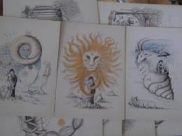 12 CPSM - LES SIGNES DU ZODIAQUE D'APRES PEYNET - BON ETAT - NON ECRITES - Künstlerkarten