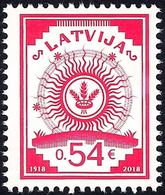 Latvia Lettland Lettonie 2018 (18) The First Stamp Of Latvia - 100 Years - Latvia