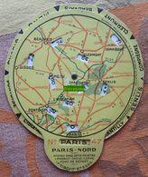 Disque Indicateur De Distance Au Nord De Paris : Beauvais, Compiègne, Gisors, Pontoise - Publicité Pour L'huile Russoléo - Cars