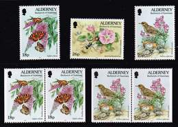 Alderney 1997, Michel# 100 - 102 A + Dl + Dr ** - Alderney