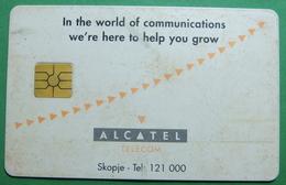 Macedonia CHIP PHONE CARD USED, Operator: Mobimak, Without Value *ALCATEL* RARE - Macedonië