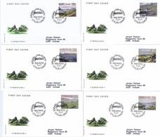 Faroe Islands; 2005. Art By Jógvan Waagstein.  Complete Set Of 9 From Souvenir Sheet On FDC (Foghs Cover). - Faroe Islands