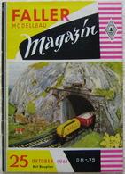 FALLER Modellbau Magazin 25 1961 True Vintage Bahnsteigbeleuchtung Seilbahnen - German