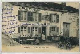 CORBION  Hotel Du Lion D'or, Beau Plan Animé - Autres Communes
