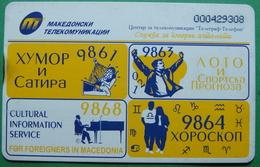 Macedonia CHIP PHONE CARD USED, Operator: MT, 500 Units *BUTTERFLY* RARE, 1998 - Macedonia
