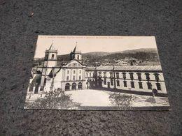 ANTIQUE PHOTO POSTCARD PORTUGAL - SANTO TIRSO - IGREJA MATRIZ E QUARTEL DA GUARDA REPUBLICANA CIRCULATED - Porto