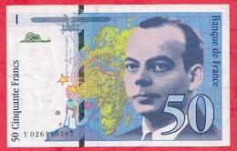 """50 Francs """"St Exupéry"""" 1994 --VG/TTB --n °Y 026130587 - 1992-2000 Dernière Gamme"""