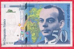 "50 Francs ""St Exupéry"" 1994 --VG/TTB --n °K020447783 - 1992-2000 Dernière Gamme"
