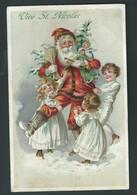 Vive St. Nicolas. Superbe Illustration. Litho Gaufrée. Enfants, Jouets... 2 Scans. - Saint-Nicolas