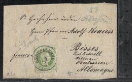 CUT 3sld Green Stamp On Cut From Gerusalemme Austria Levant Palestine Jerusalem - Israel - Oostenrijkse Levant