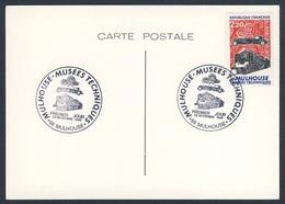 France Rep. Française 1986 Card / Karte / Carte + Mi 2583 YT 2450 - Mulhouse Musees Techniques - Premier Jour 29-11-1986 - Treinen
