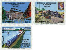 Ref. 58384 * NEW *  - GUATEMALA . 1983. CENTENARY OF THE GUATEMALA RAILWAY. CENTENARIO DEL FERROCARRIL EN GUATEMALA - Guatemala