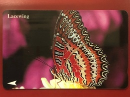 SINGAPORE LOT OF 3 PHONE CARDS, ALL FINE USED, BUTTERFLY, TOWER AND TAIWAN NATIONAL PALACE MUSEUM - Singapore