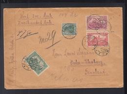 Dt. Reich Wertbrief 1920 Gotha Nach Finnland - Deutschland