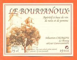 étiquette D'apéritif à Base De Vin De Noix Le Bourtanoux Cazagou à Lavercantière - 75 Cl - Sonstige
