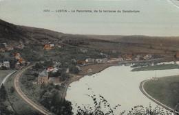 LUSTIN / LE PANORAMA DE LA TERRASSE DU SANATORIUM 1919 - Namen