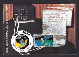 Germany: Maximum Card, 1987, 1 Stamp, HEXE X-Ray Experiment, Astronomy, Witch, Technology (traces Of Use) - Brieven En Documenten