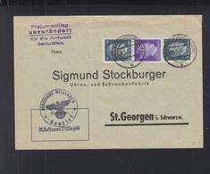 Dt. Reich ZD Auf Dienstbrief Arbeitsamt Villingen - Briefe U. Dokumente
