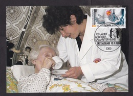 Germany: Maximum Card, 1988, 1 Stamp, Samaritan Organisation, Healthcare, Hospital, Nurse, Health (traces Of Use) - [7] West-Duitsland
