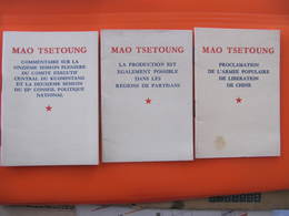 CHINE -MAO TSE TOUNG - 3 Petits Livrets - EDITIONS EN LANGUES ETRANGERES PEKIN 1969 Et 1970 - Histoire