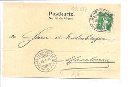 SCHWEIZ SUISSE 1914  Obliteration Schoftland  +   Kirchleerau-Moosleerau + Station Triengen-Winikon - Switzerland