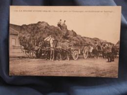 Guerre 1914  Dans Une Gare En Champagne, Ravitaillement En Fourrage - N° 1170 - Circulée 1917- R259 - Guerre 1914-18