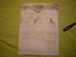 Facture Illustrée 1831 Attenoux Frères à Nimes Rouennerie Indiennes En L'état - Francia