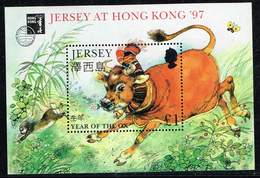 Jersey 1997, Michel# Block 14 + 14 I **r ** - Alderney