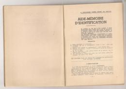 DOCUMENT 2 EME GUERRE MONDIALE / AIDE MEMOIRE IDENTIFICATION DESTINE AU RENSEIGNEMENT  B673 - Documents