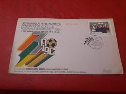 La Chine Enveloppe Taïpei L'Inde Fdc Un Football 1984 - Football