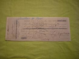 Reçu Chèque Fusées De Sureté Feux Artifices  Davey Bickford Watson & Cie 1883 à Rouen - Francia