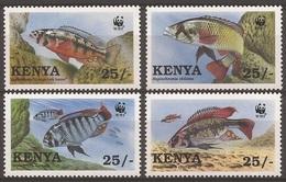 KENYA 1997 Y&T 683 à 686  Neufs**  Poissons Du Lac Victoria / WWF - Ongebruikt