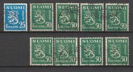 MiNr. 76, 83 Finnland / 1917, 1. Okt./1930, 10. Sept. Freimarken: Wappen. Bdr.; OWz.; A = Gez. K (14:)14, B = Gez. K 14: - 1856-1917 Administration Russe