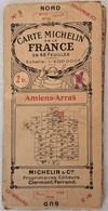 Ancienne Carte MICHELIN De La France 1923 Amiens - Arras N° 3 - Roadmaps