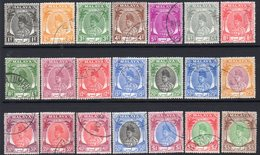 Malaya Perlis 1951-5 Raja Syed Patra Definitives Set Of 21, Used, SG 7/27 - Perlis