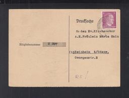 Dt. Reich Kirchenchor Ausweis - Briefe U. Dokumente