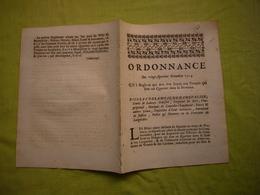 Ordonnance 1714 Languedoc Fournitures Aux Troupes - Décrets & Lois