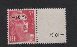 Faux France N° 719AA -10 % Sur 5 F Gandon Gomme Sans Charnière - 1945-54 Marianne Of Gandon