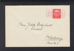 Dt. Reich Brief Mit Rotem Holzschwang - Briefe U. Dokumente