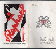 Bordeaux (33 Gironde) Programme Du GRAND THEATRE 1955-56  Colorado (PPP9678) - Programs
