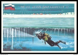 ITALY 2003 POSTCARD Used RUSSIA DRIFT STATION NORTH POLE-32 DERIVANTE ARCTIC NORD Plongee DIVING Mi-26 HELICOPTER Mailed - Scientific Stations & Arctic Drifting Stations