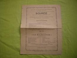 Programme 1886 Soirée Donnée élèves Des écoles Libres à Montpellier - Programs