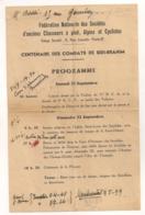 1945 INVITATION PROGRAMME PARIS / CENTENAIRE DES COMBATS DE SIDI BRAHIM /  CHASSEURS A PIED ALPINS ET CYCLISTES   B674 - Documents
