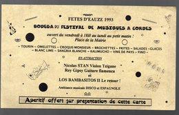 Eauze  ( 32 Gers) Programme Fêtes 1993  (PPP9679) - Programs