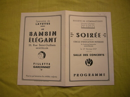 Programme 1937 Soirée Cercle D'éducation Physique à Montpellier - Programs