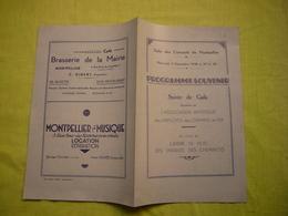 Programme Souvenir 1936 Soirée De Gala Association Chemins De Fer à Montpellier - Programs