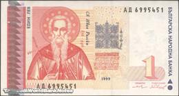 TWN - BULGARIA 114 - 1 Lev 1999 Prefix АД AXF - Bulgaria